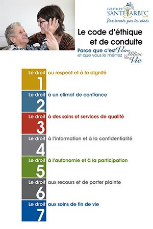 Groupe Santé Arbec Code d'éthique et de conduite